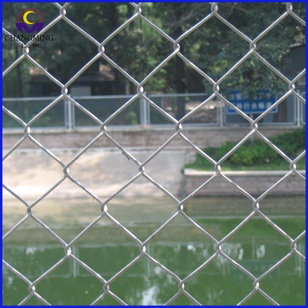 Good quality electro galvanized chain link fence