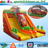 2015 cheap cartoon inflatable slide, colorful inflatable slide for adult and kids, racing car inflatable slide for sale