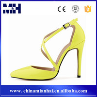 2016 Spring/Summer Fashion Trend Pointed Toe Lace Up High Heels Sandal For Girls