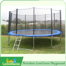 Kids outdoor round 20ft trampoline with safety enclosure