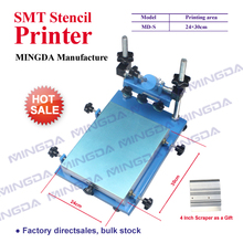 SMT stencil printer,Small size 24*30mm manual screen printer PCB silk printing machine