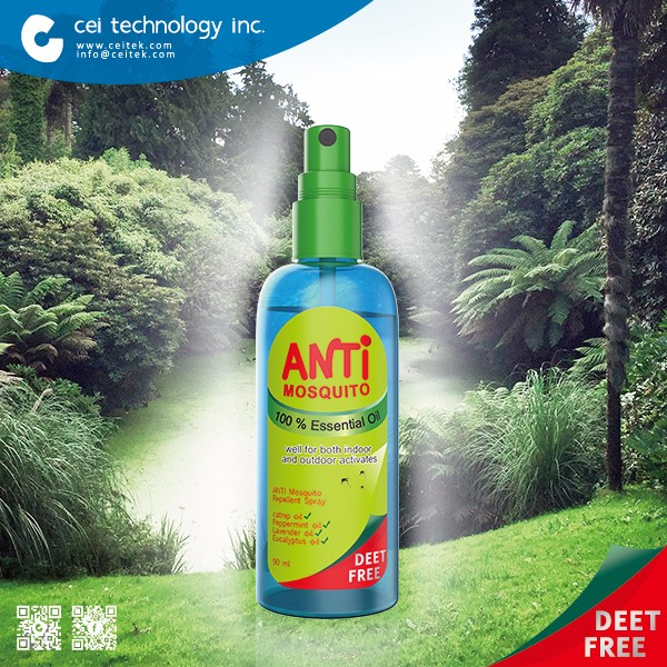 Zika-Virus Prevention Mosquito Repellent Spray Natural Peppermint Citronella Mosquito Spray
