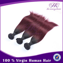 HC Remy Hair purple ombre weave in Qingdao fish line hair