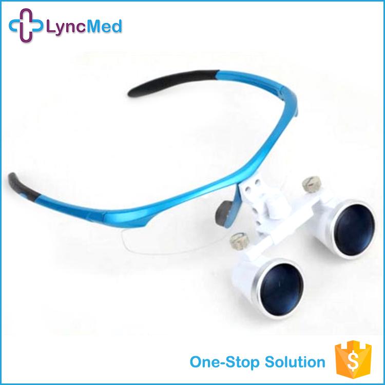 3.5x420mm Surgical Binocular Loupe Magnifier Glasses Headband Dental Loupes Cases