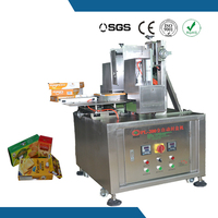 Semi auto small food paper box hot melt glue sealing machine