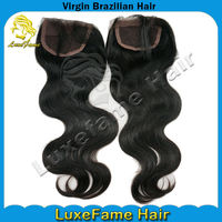 Natural wave pretty can be bleached and dyed brazilian lace closure fast ship by dhl