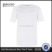 MGOO Fashion Design Customized Raglan Short Sleeves T-shirt For Men Bodybuilding High End Fashion Tee Shirts