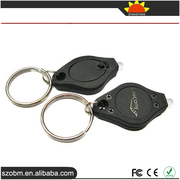 Custom LED Keychain /Small Portable Gift Keychain /Plastic OEM White Light LED Keychain