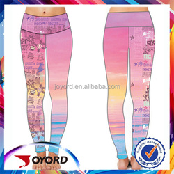 100% polyester multicolor yoga wear pants plain dyed