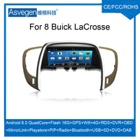 For Buick LaCrosse Car DVD GPS Android Player With Mirror Link Bluetooth DAB Radio MP5 USB DAB Tire Pressure OBD