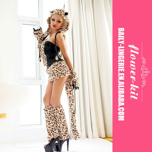Wholesale Sexy women tiger costumes , Halloween animal cosplay clothing