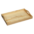 Wholesale Handmake heavy-duty solid wooden tray with handle