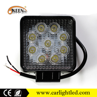 High quality 27w light for off road SUV cars rectangle car led work light