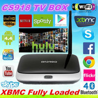 2016 Best Selling amlogic sex video google KODI RK3188 Android 4.4 cs918 tv box youtube youporn iptv android tv box cs918