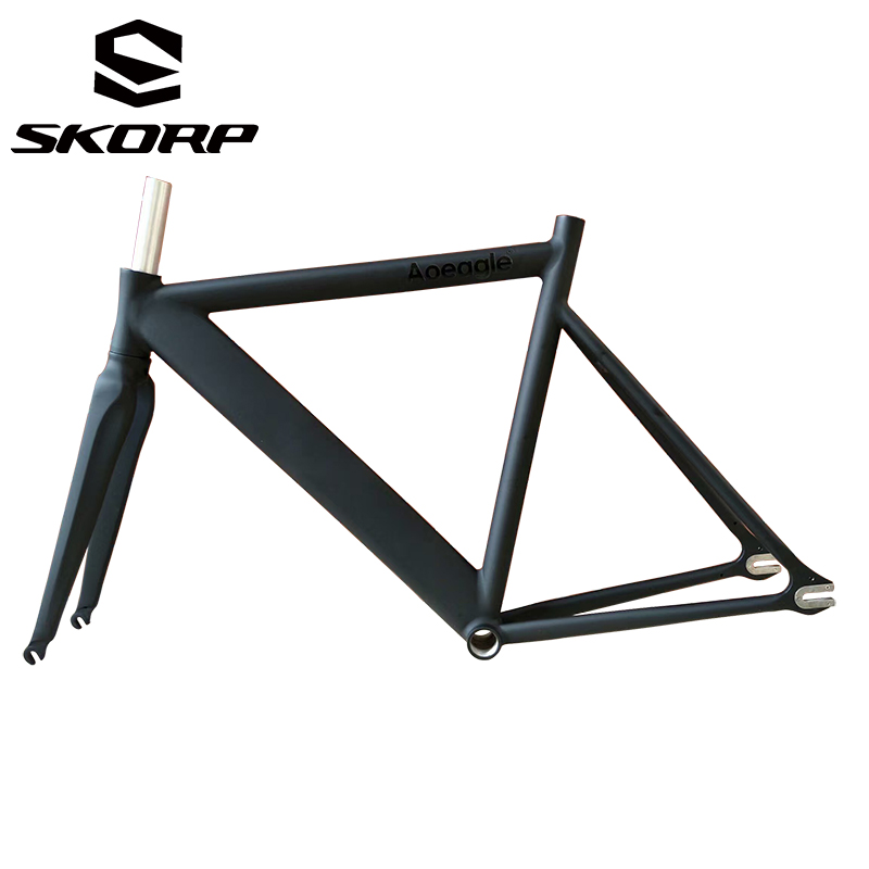 Polish Welding Bicycle Aluminum Track Frame Fix Gear Road 700C Bike Frame