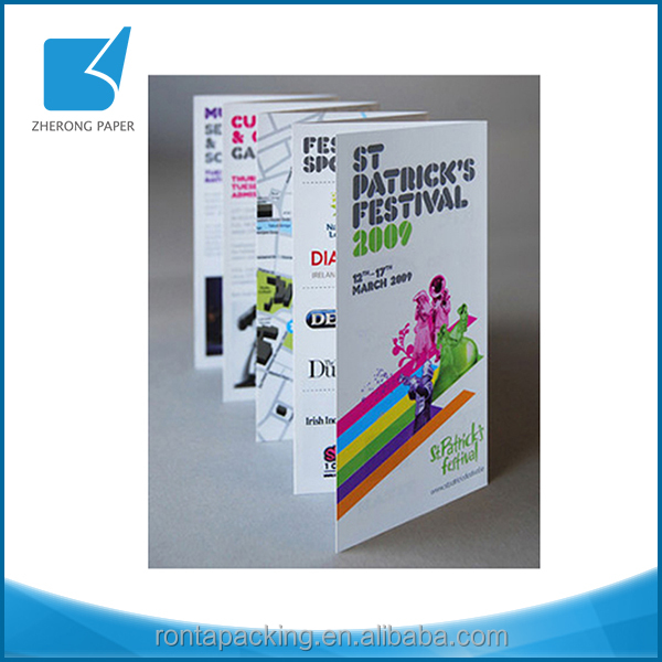 Wholesale high quality eco-friendly cardboard pamphlet printing