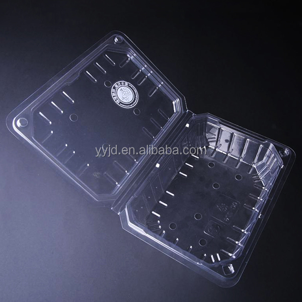 disposable PET plastic compartment tray with lid