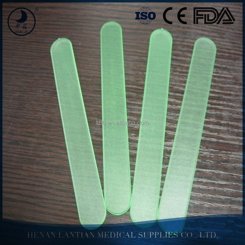 Medical consumables disposable plastic tongue depressor for adult
