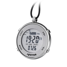digital big dial fishing barometer pocket watch with storm alarm