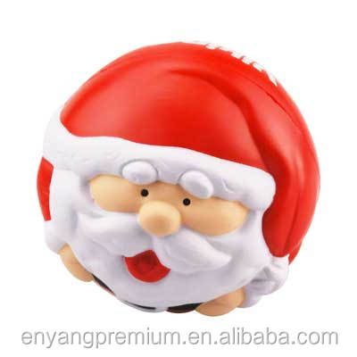 Santa christmas decoration PU Stress reliever ball Slow rising squishy