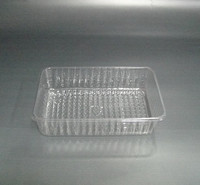 pvc clear divided plastic biscuit tray