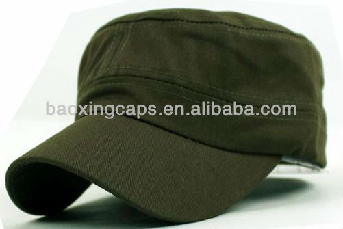 forest green flat top military cadet corps hat