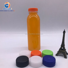 2017 hot sell 350ml plastic water bottle for juice Cold Pressed Juice Bottle With tamper-proof cap