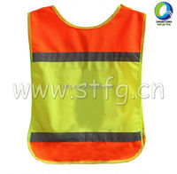 Wholesale kids orange ang yellow Reflective Safety Vest,safety clothing