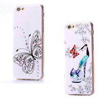 Butterfly Luxury Bling Glitter Diamond Rhinestone Crystal Case Cover For Apple iPhone 6s / 6s Plus