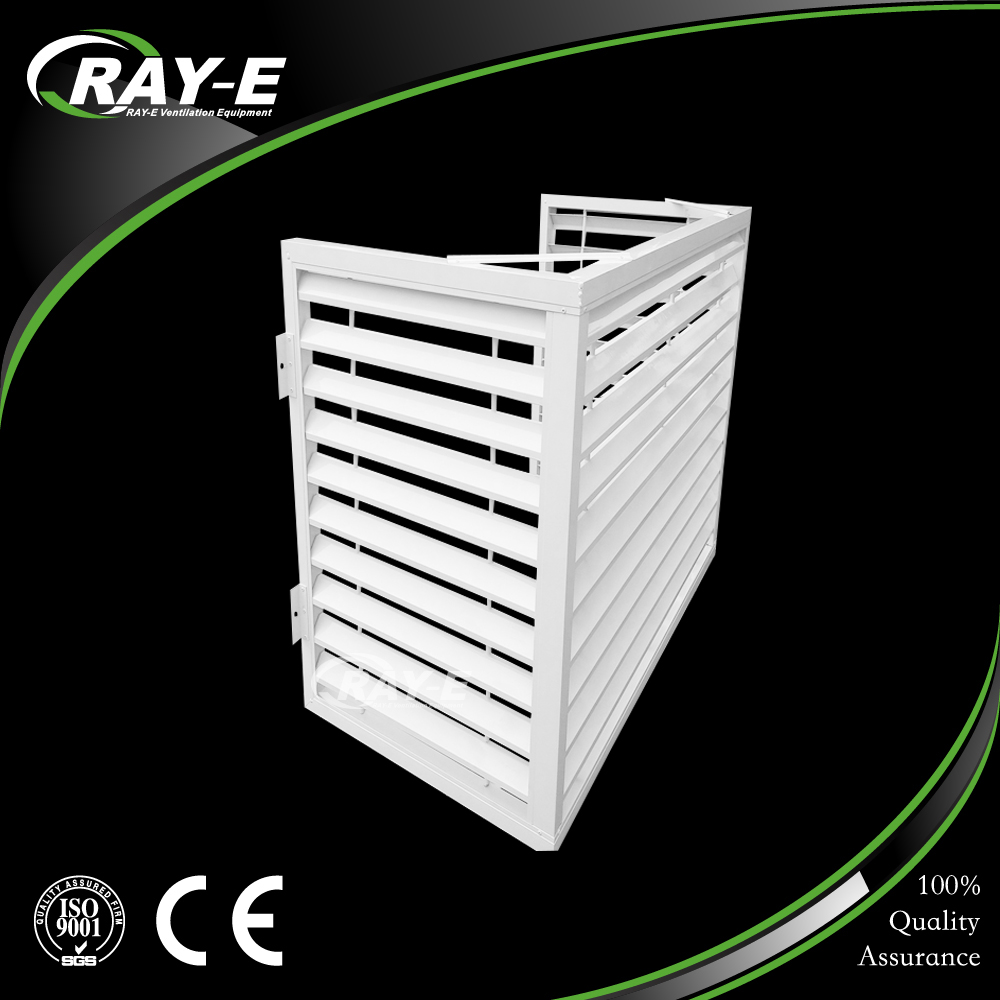 aluminum waterproof outdoor decorative air conditioner louver vent cover
