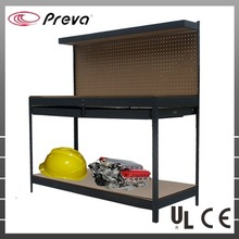 Metal Garage commercail shelving Rack with Double Drawer New Multipurpose <strong>Shelf</strong>
