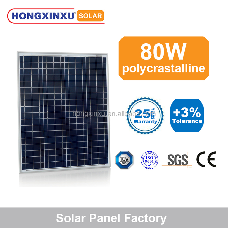 Best quality 80 watt poly crystalline solar panel with pure blue color