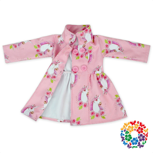2019 New Pink Color Unicorn Prints Little Girls Coats Jackets High Collar Warm Cotton Kids Winter Jackets Wholesale Baby Jacket
