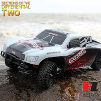 High speed monster large rc car 4wd nitro truggy with 2.4G 4ch brush motor