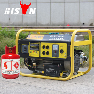 BISON(CHINA) 2kw Natural Gas Generator With Hot Sale Gasoline Gas Dual Use With Three In One Carburetor BISON Natural Gas Genera