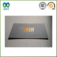 Online black best business card with gold foil hot stamping making business cards