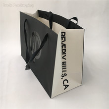 High Quality Customized Hot Stamping Printed logo Luxury Gift Paper bag Shopping paper Bag with handles for boutique