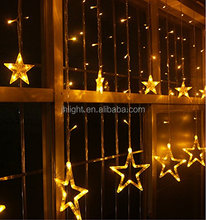 STAR DESIGN LED FAIRY STRING LIGHTS WARM WHITE MULTI COLOR WINDOW CURTAIN ICICLE LIGHTING CHRISTMAS PARTY WEDDING BIRTHDAY DECOR