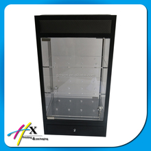 New style led light wood watch showroom display case display cabinet
