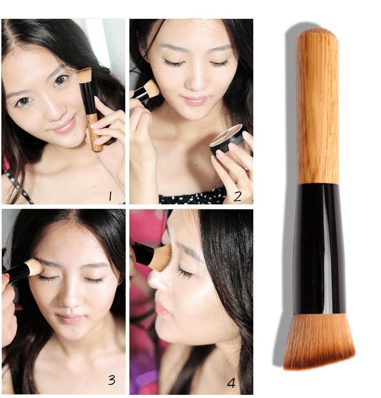 Make up Nylon Fiber Hair cosmetic Makeup Wood Wooden Brush