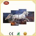 4 panels custom waterproof paint horse canvas painting