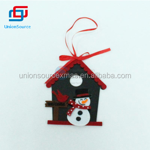 Unique Design Christmas Snowmen and House Pendant Decoration