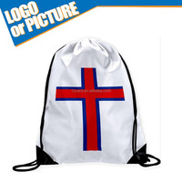 Marketing the Faroe Islands soccer fans drawstring bag for 2016