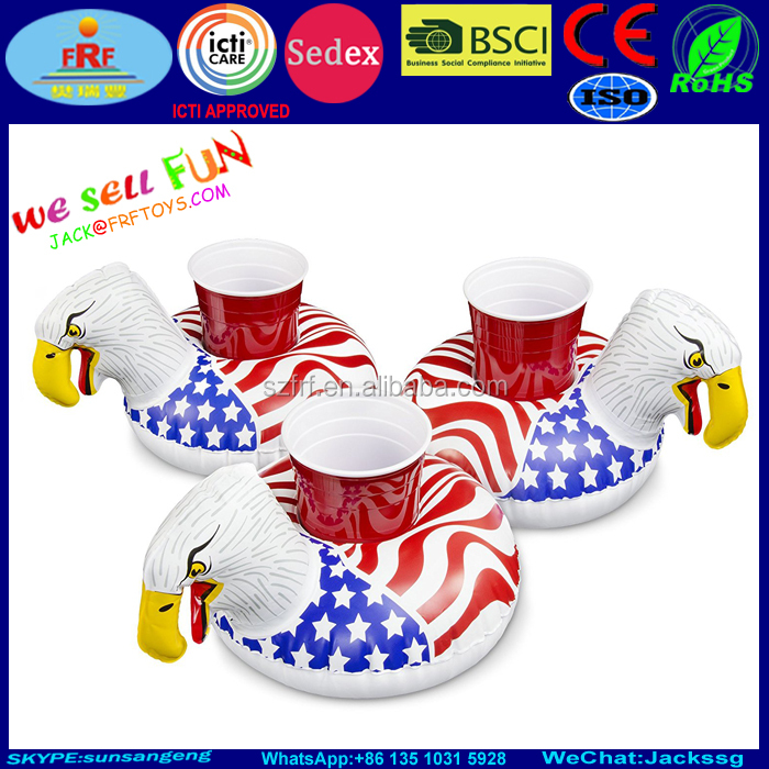 Party Pool Inflatable Eagle Drink Float 3 Pack