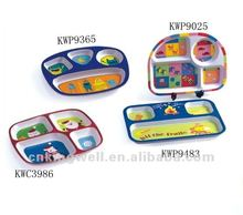 Children Design Printed Melamine 4 Sections Plate