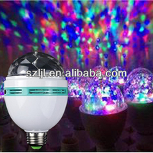 Fantasy 3w e27 b22 rgb led full color rotating lamp/Dj lights