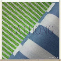 blue and white striped fabric