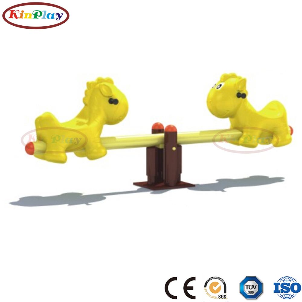 KINPLAY brand attractive designs supplier outdoor playground equipment seesaw for kid