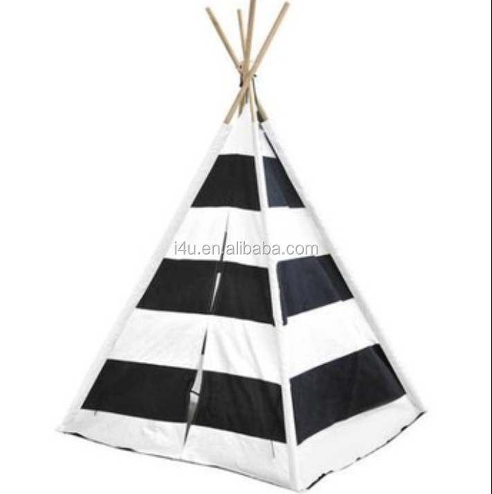 XINYOU black and white stripe children camping Outdoor Playground teepee tent