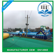 Guangzhou Banshi factory sale metal frame swimming pool, rectangular above ground swimming pools